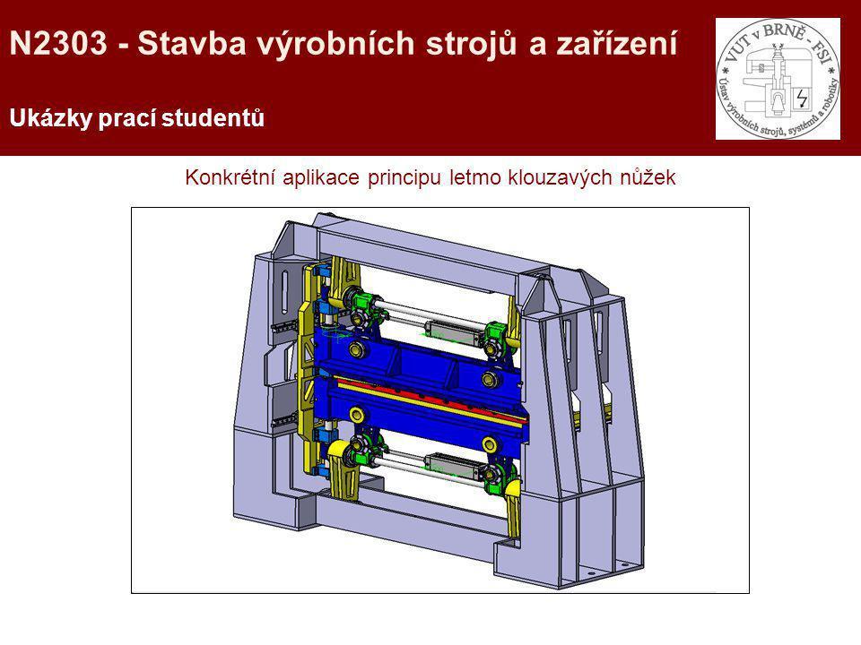 Konkrétní aplikace principu letmo klouzavých nůžek Ukázky prací studentů N2303 - Stavba výrobních strojů a zařízení
