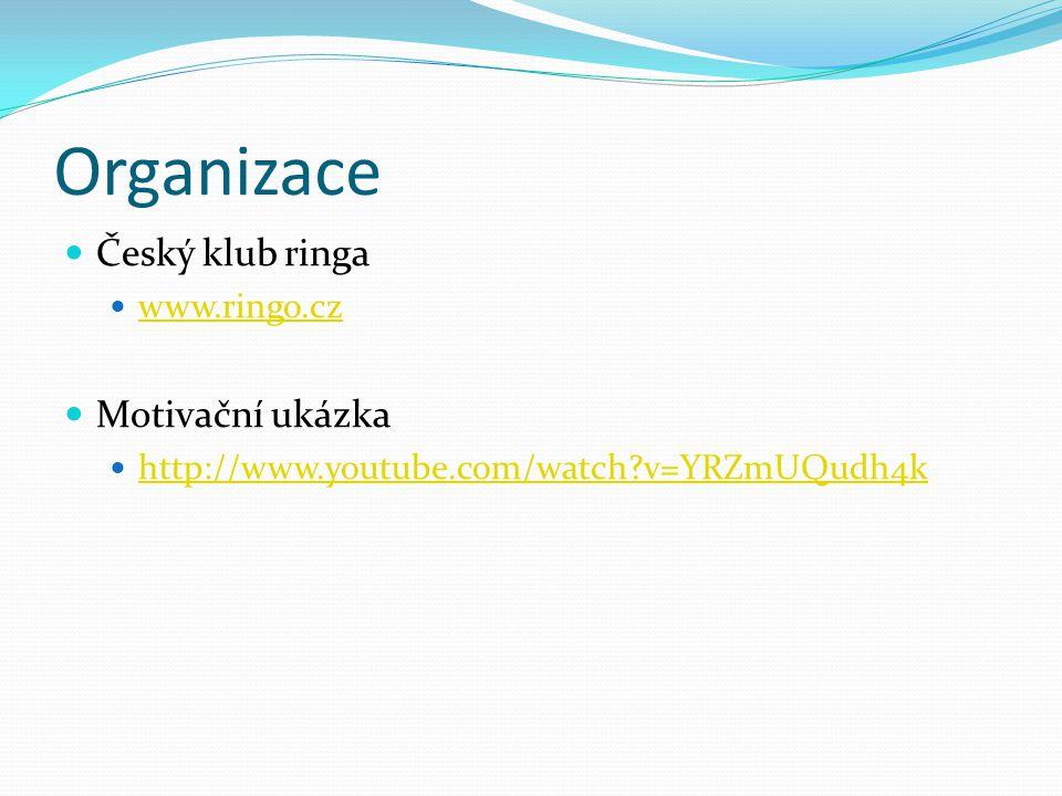 Organizace Český klub ringa www.ringo.cz Motivační ukázka http://www.youtube.com/watch?v=YRZmUQudh4k