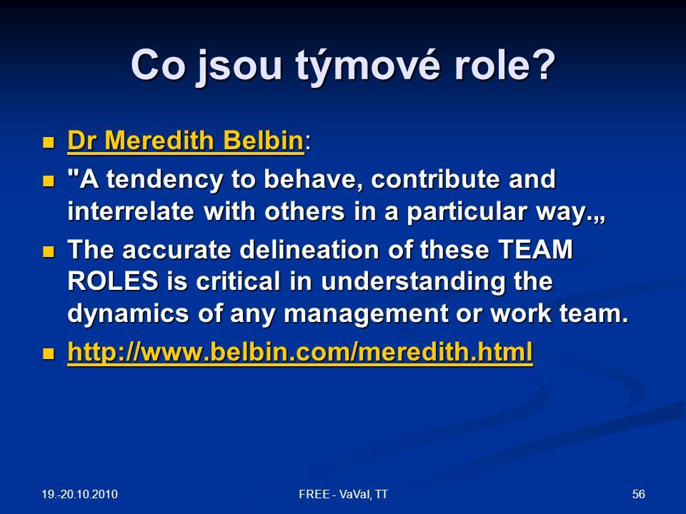 Co jsou týmové role? Dr Meredith Belbin: Dr Meredith Belbin: Dr Meredith Belbin Dr Meredith Belbin