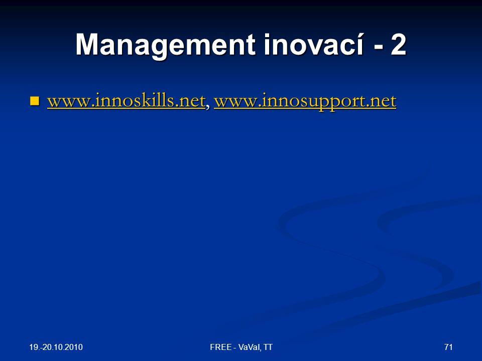 Management inovací - 2 www.innoskills.net, www.innosupport.net www.innoskills.net, www.innosupport.net www.innoskills.netwww.innosupport.net www.innos