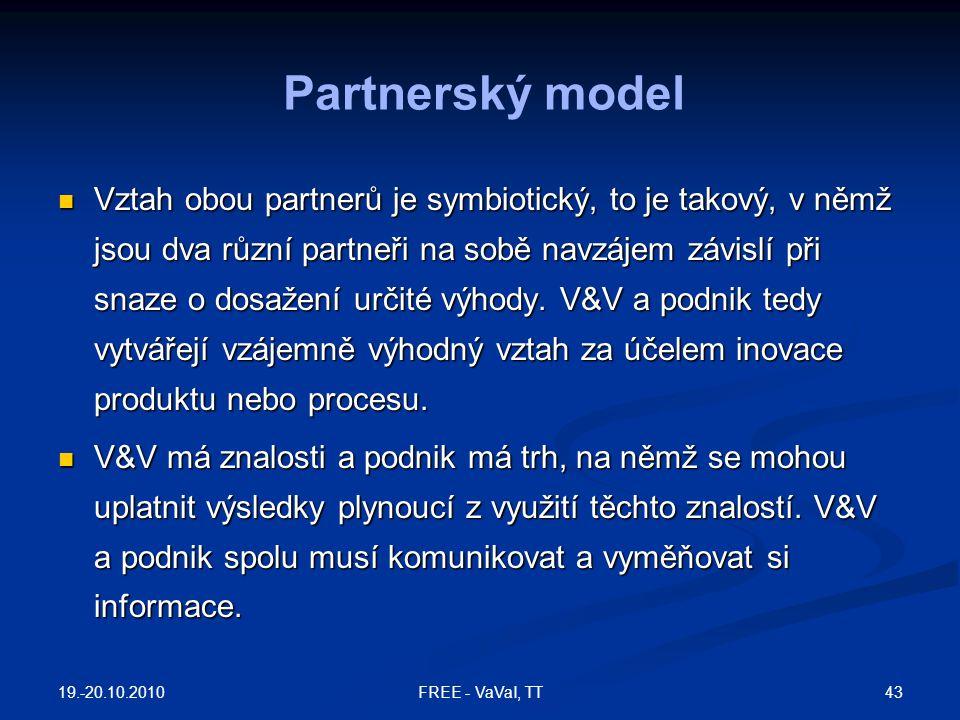 Vztah obou partnerů je symbiotický, to je takový, v němž jsou dva různí partneři na sobě navzájem závislí při snaze o dosažení určité výhody. V&V a po