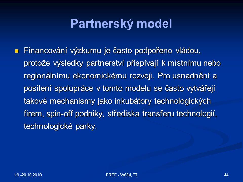 Financování výzkumu je často podpořeno vládou, protože výsledky partnerství přispívají k místnímu nebo regionálnímu ekonomickému rozvoji. Pro usnadněn