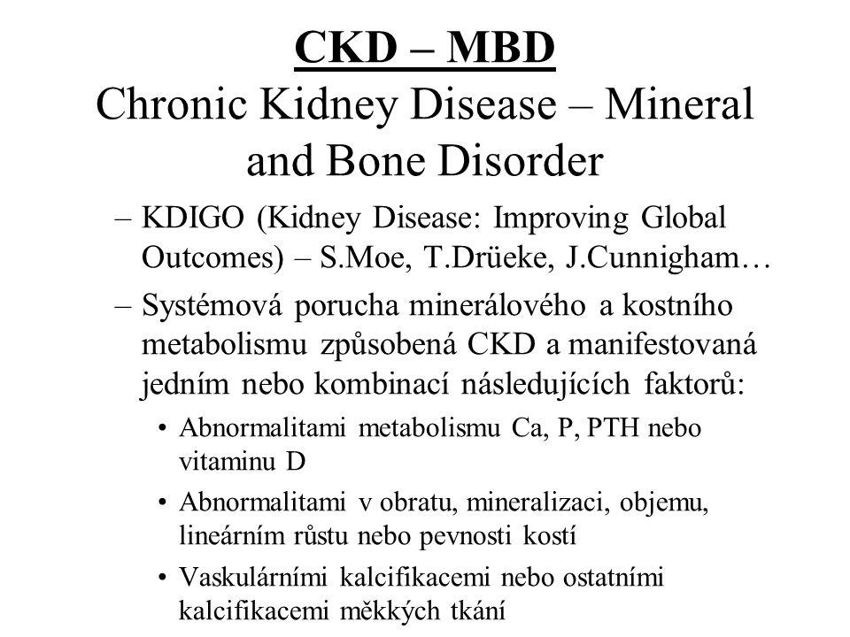 CKD – MBD Chronic Kidney Disease – Mineral and Bone Disorder –KDIGO (Kidney Disease: Improving Global Outcomes) – S.Moe, T.Drüeke, J.Cunnigham… –Systé