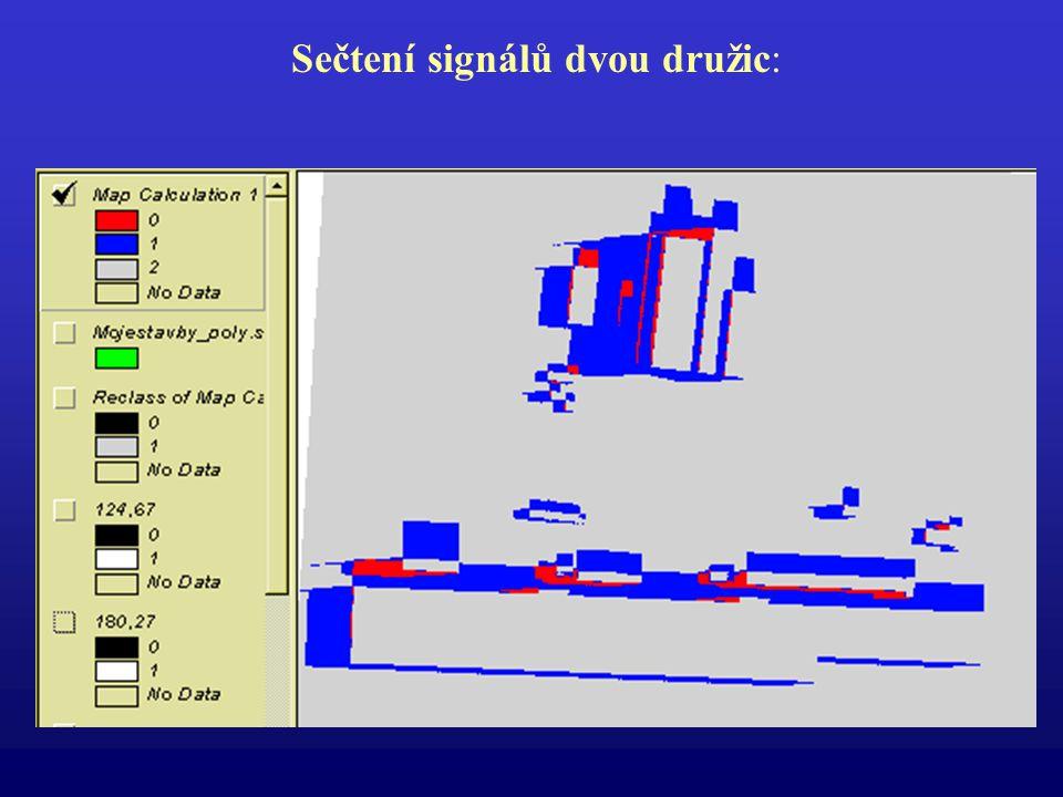 Sečtení signálů dvou družic: