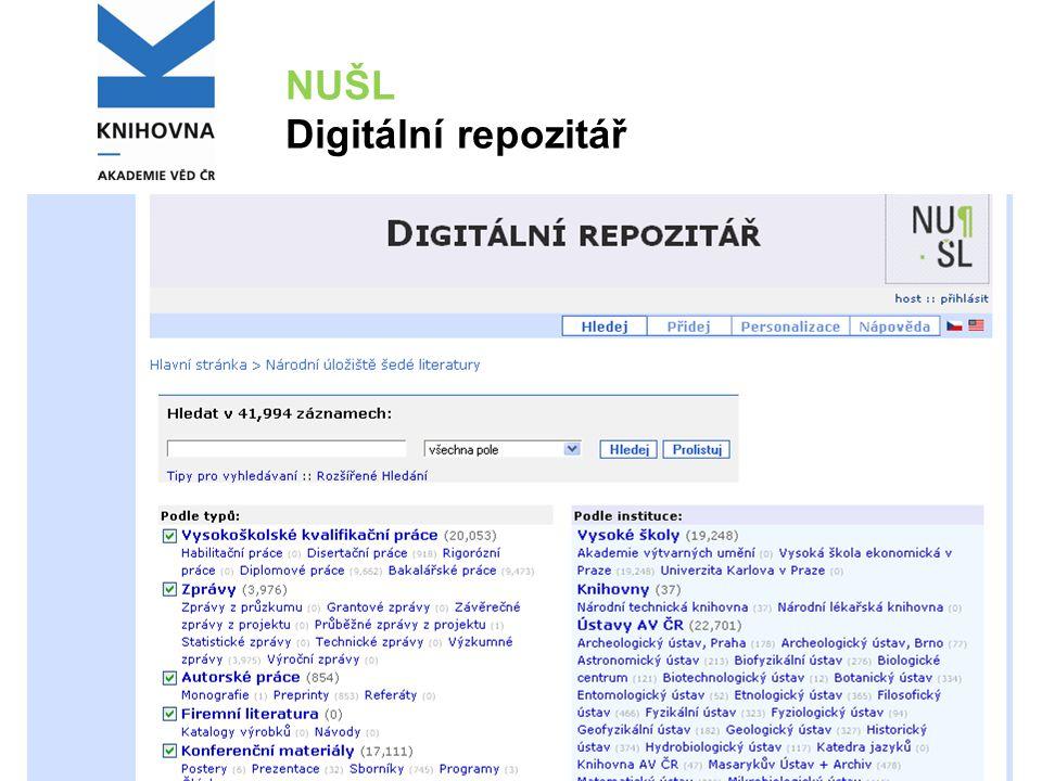 NUŠL Digitální repozitář