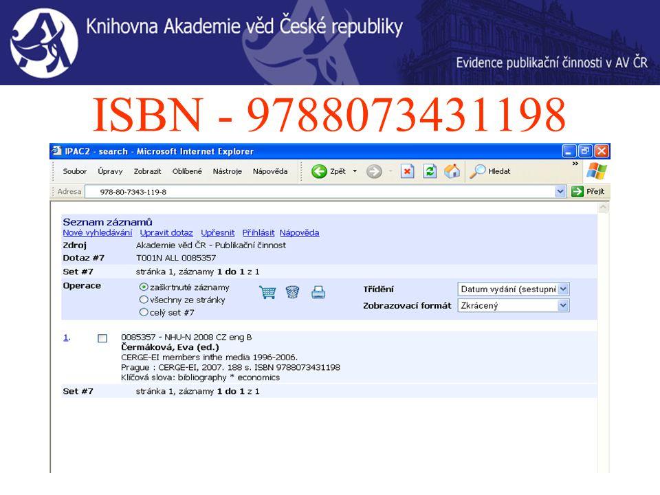 ISBN - 9788073431198