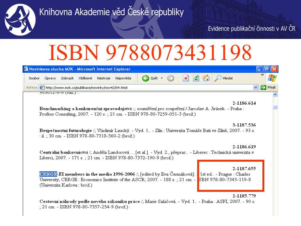 ISBN 9788073431198