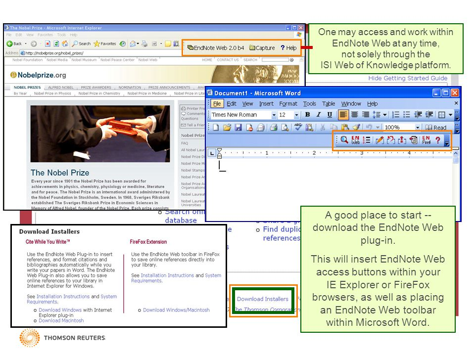 One may access and work within EndNote Web at any time, not solely through the ISI Web of Knowledge platform. A good place to start -- download the En