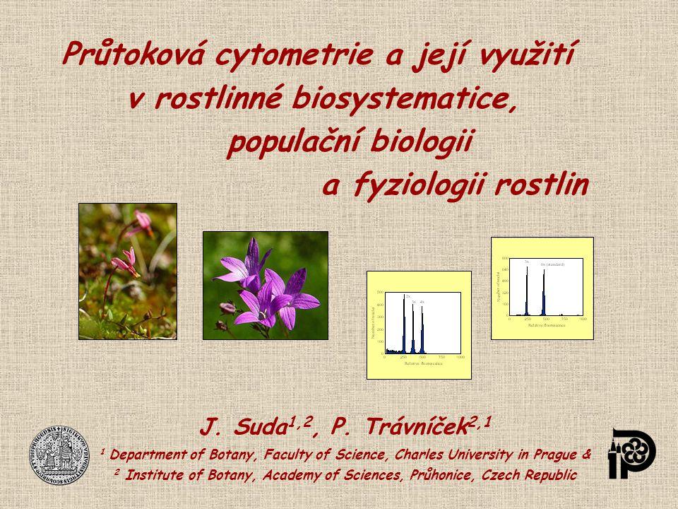 Průtoková cytometrie a její využití v rostlinné biosystematice, populační biologii a fyziologii rostlin J. Suda 1,2, P. Trávníček 2,1 1 Department of