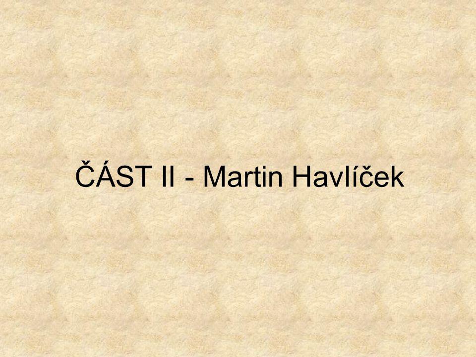 ČÁST II - Martin Havlíček