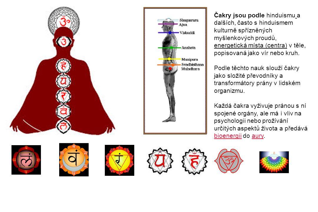 Čakry jsou podle hinduismu a dalších, často s hinduismem kulturně spřízněných myšlenkových proudů, energetická místa (centra) v těle, popisovaná jako vír nebo kruh.