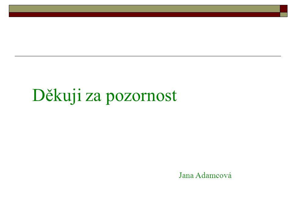 Děkuji za pozornost Jana Adamcová