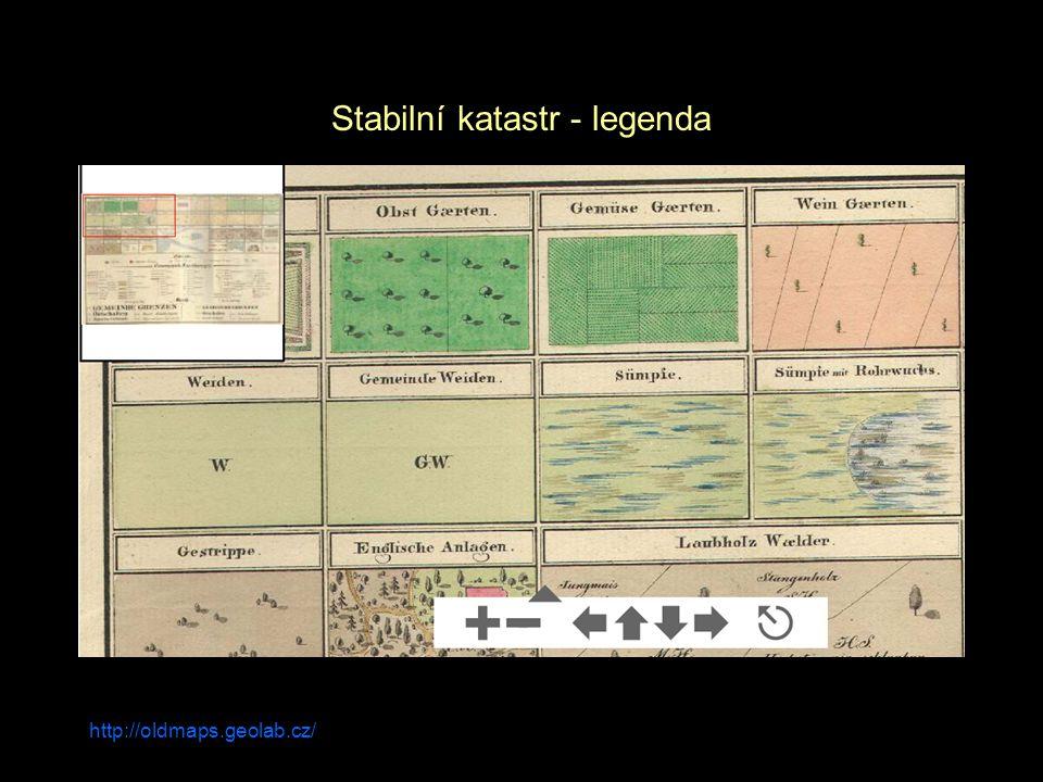 http://oldmaps.geolab.cz/ Stabilní katastr - legenda