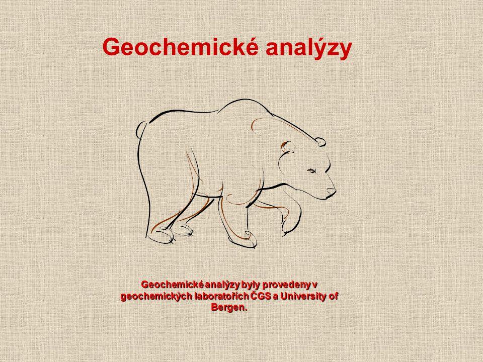 Geochemické analýzy byly provedeny v geochemických laboratořích ČGS a University of Bergen. Geochemické analýzy