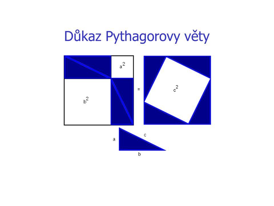 Využití uvedených vět výpočtové úlohy – řešení trojúhelníku, metrické vztahy v rovině i v prostoru důkazové úlohy konstrukce úseček iracionálních délek