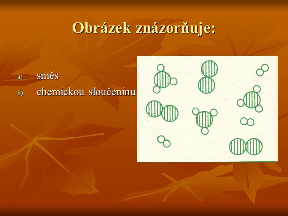 Obrázek znázorňuje: a) směs b) chemickou sloučeninu