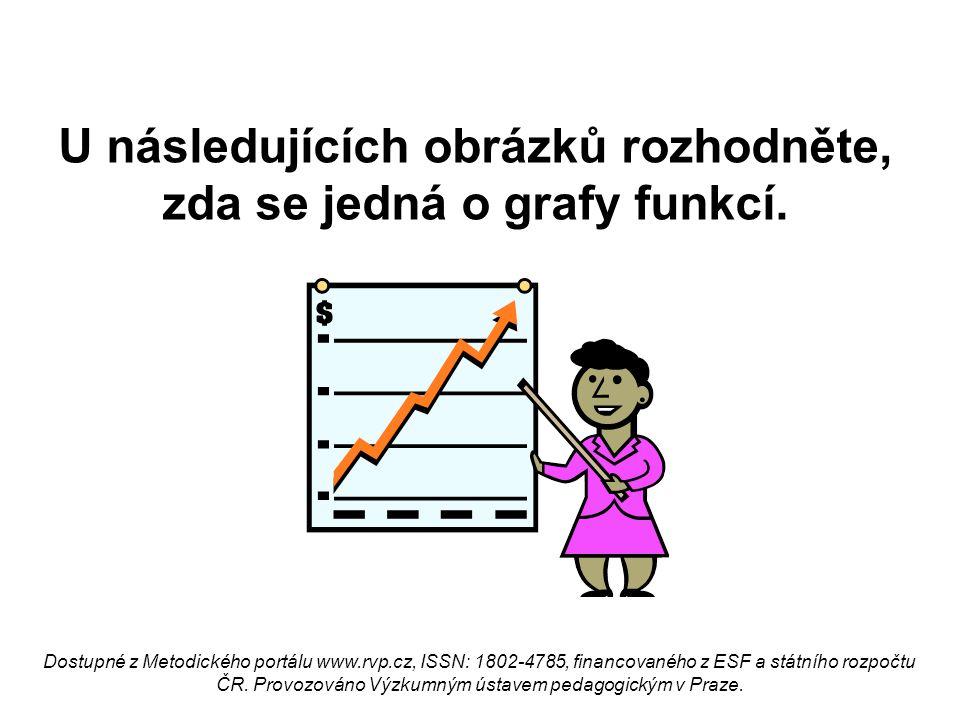 U následujících obrázků rozhodněte, zda se jedná o grafy funkcí. Dostupné z Metodického portálu www.rvp.cz, ISSN: 1802-4785, financovaného z ESF a stá