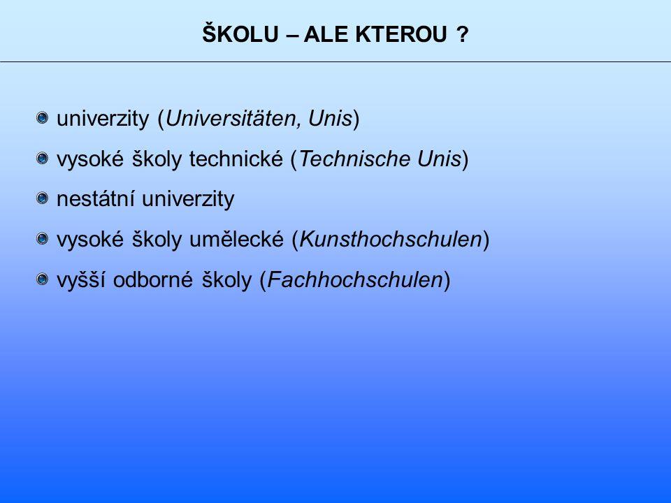 ŠKOLU – ALE KTEROU .