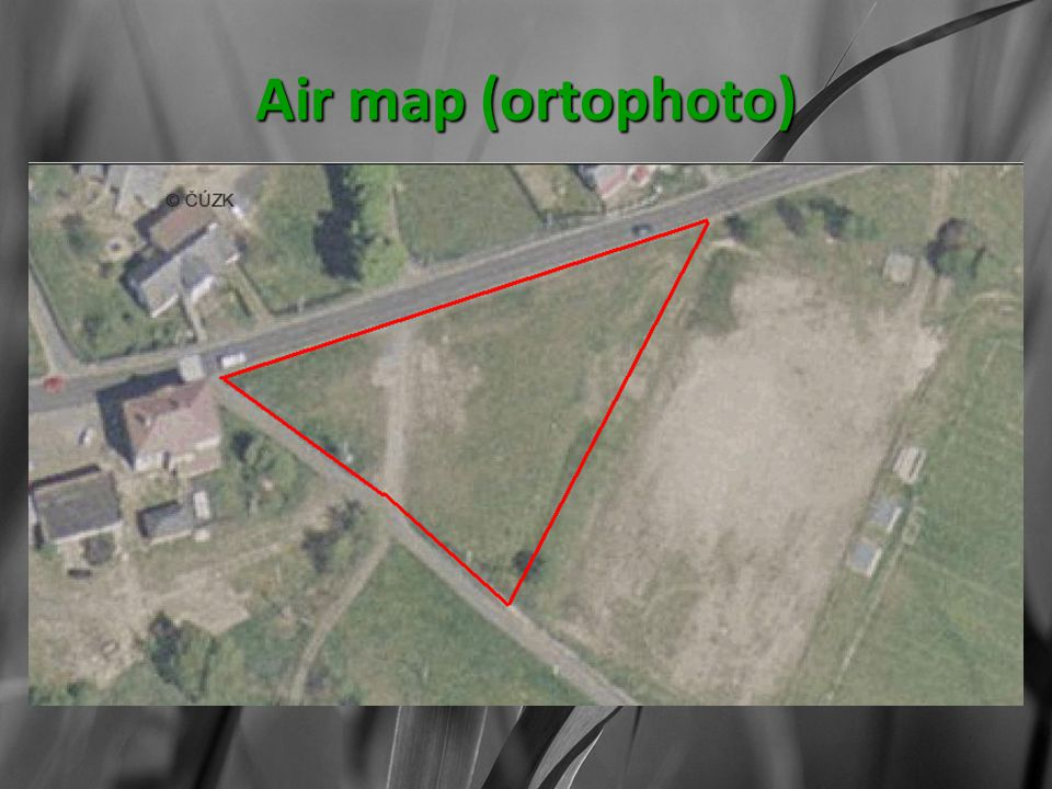 Air map (ortophoto)
