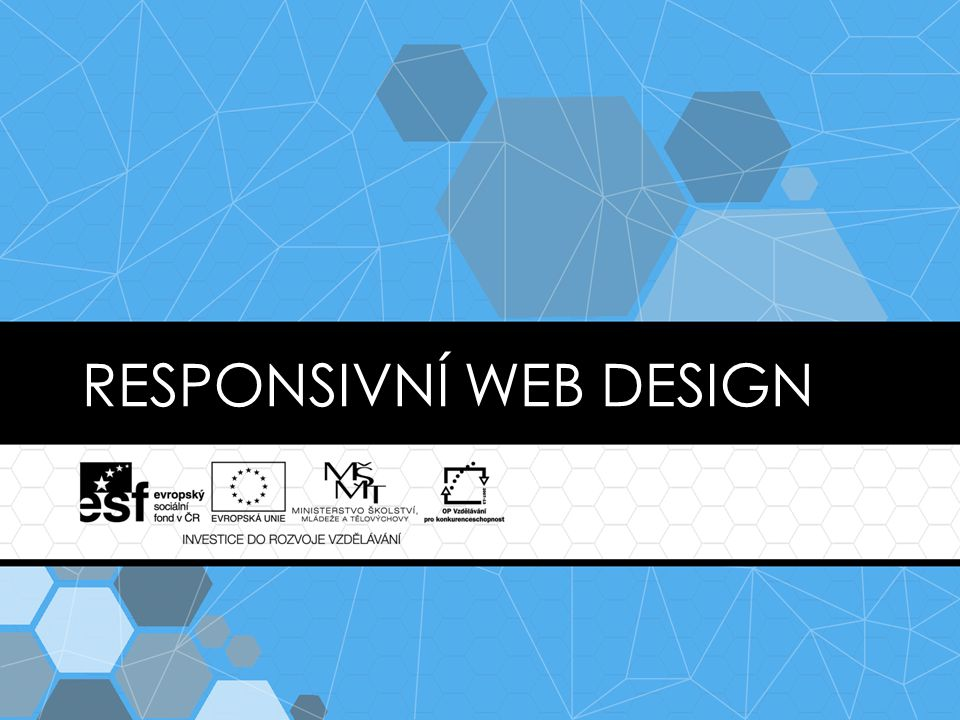 RESPONSIVNÍ WEB DESIGN