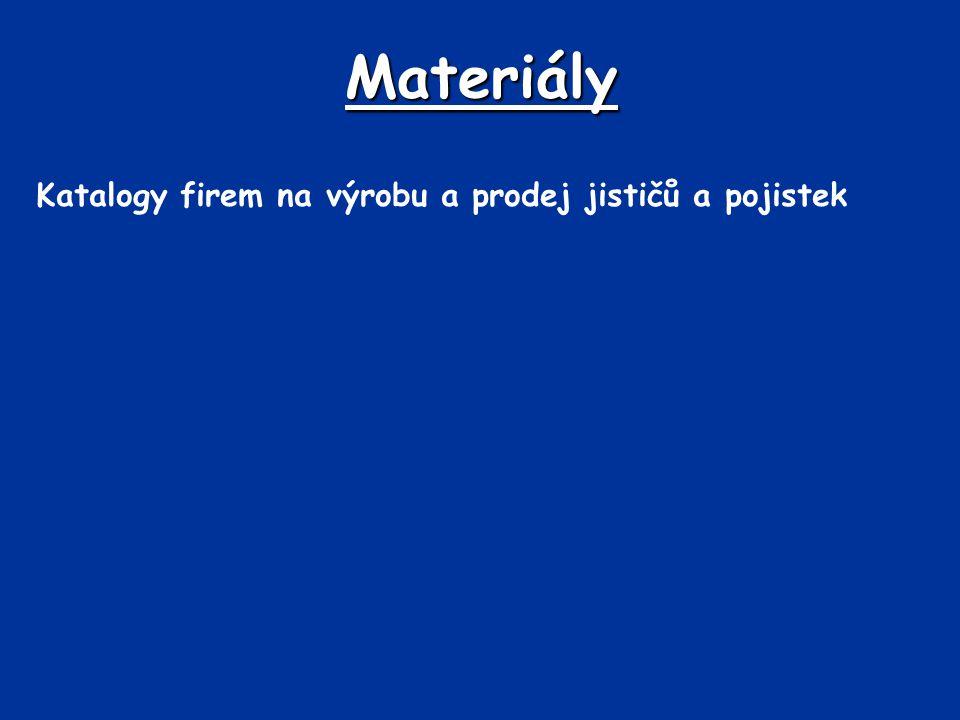 Materiály Katalogy firem na výrobu a prodej jističů a pojistek