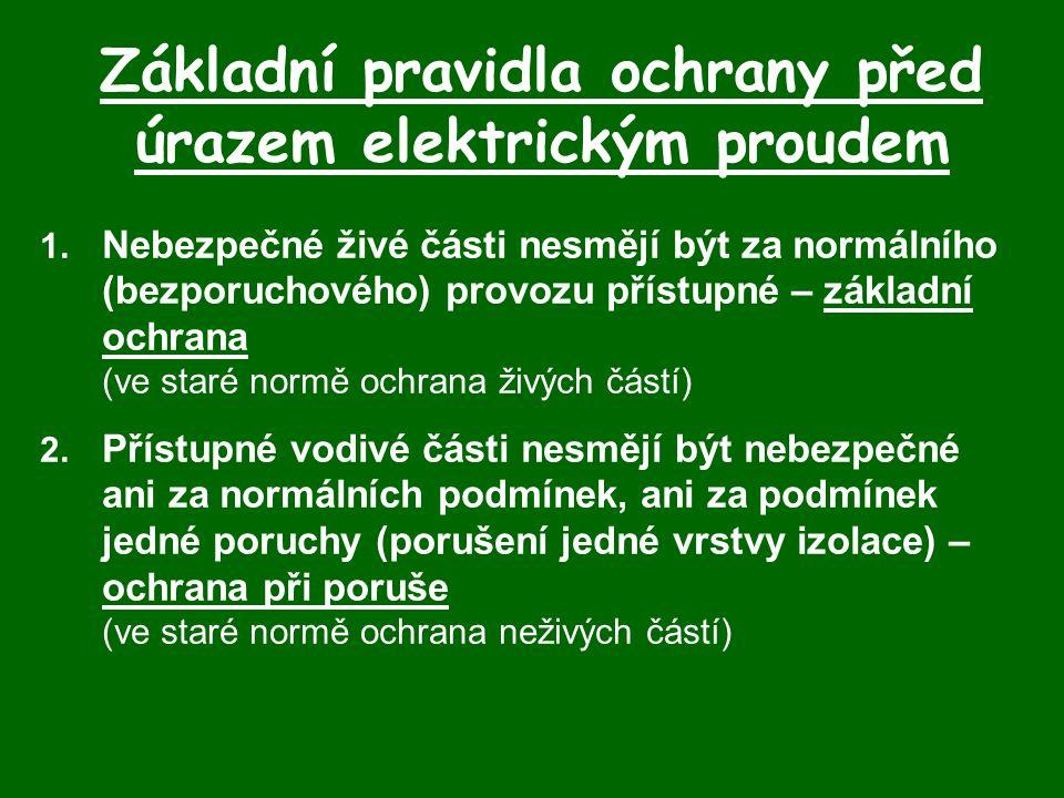 Základní pravidla ochrany před úrazem elektrickým proudem 1.