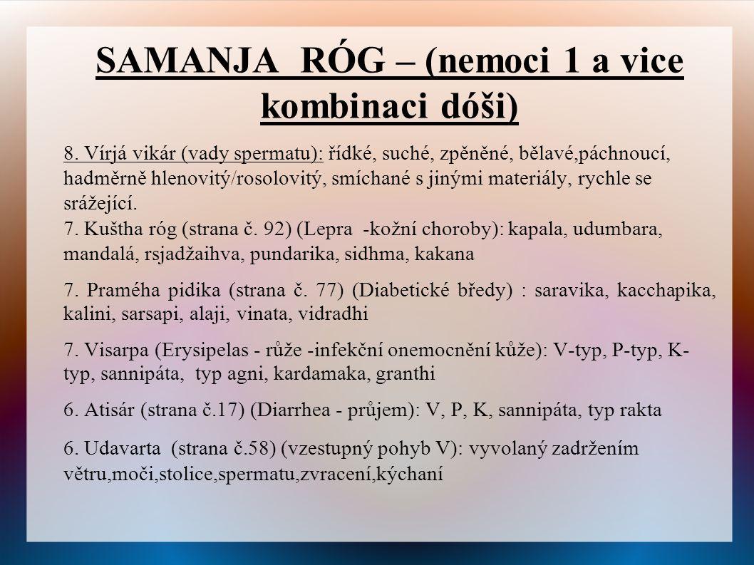 SAMANJA RÓG – (nemoci 1 a vice kombinaci dóši) 8.