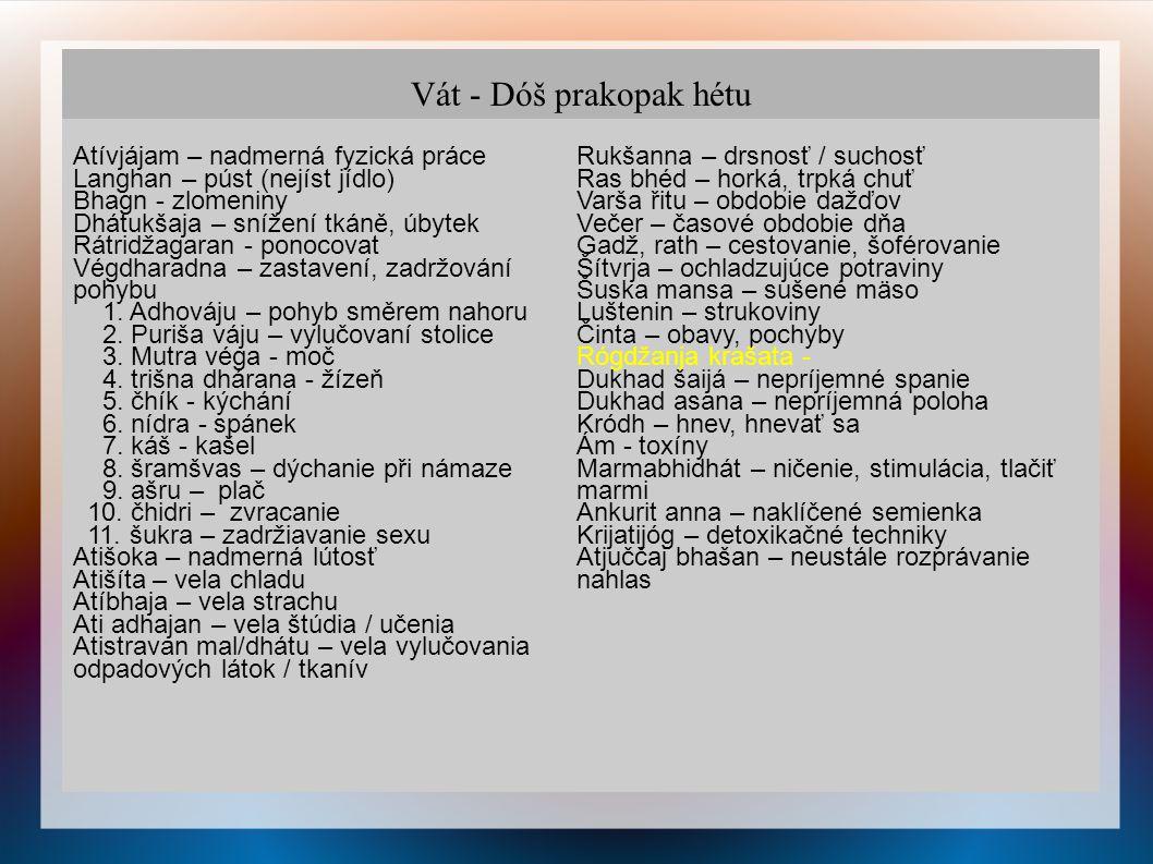 Dóša - Důšja PRASÁR Šákhá (končetina)→ Koštha (trup) 1.