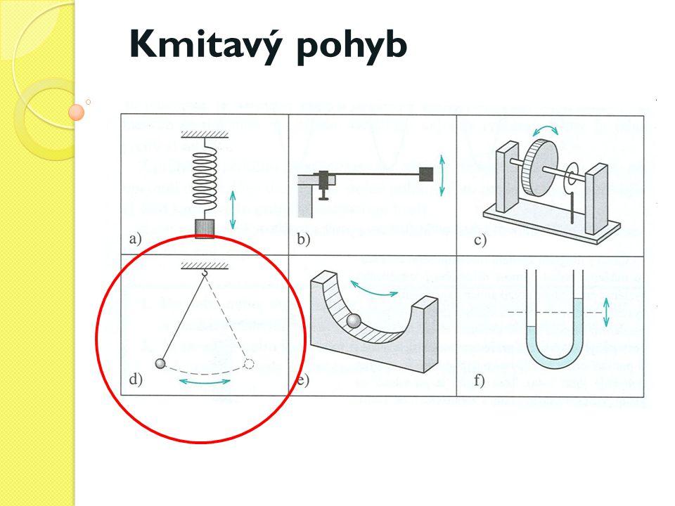 Zařízení, které volně (bez vnějšího působení) kmitá, je mechanický oscilátor.