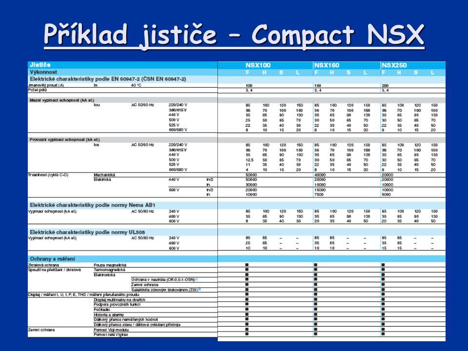 Příklad jističe – Compact NSX