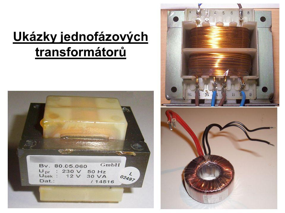 Ukázky jednofázových transformátorů