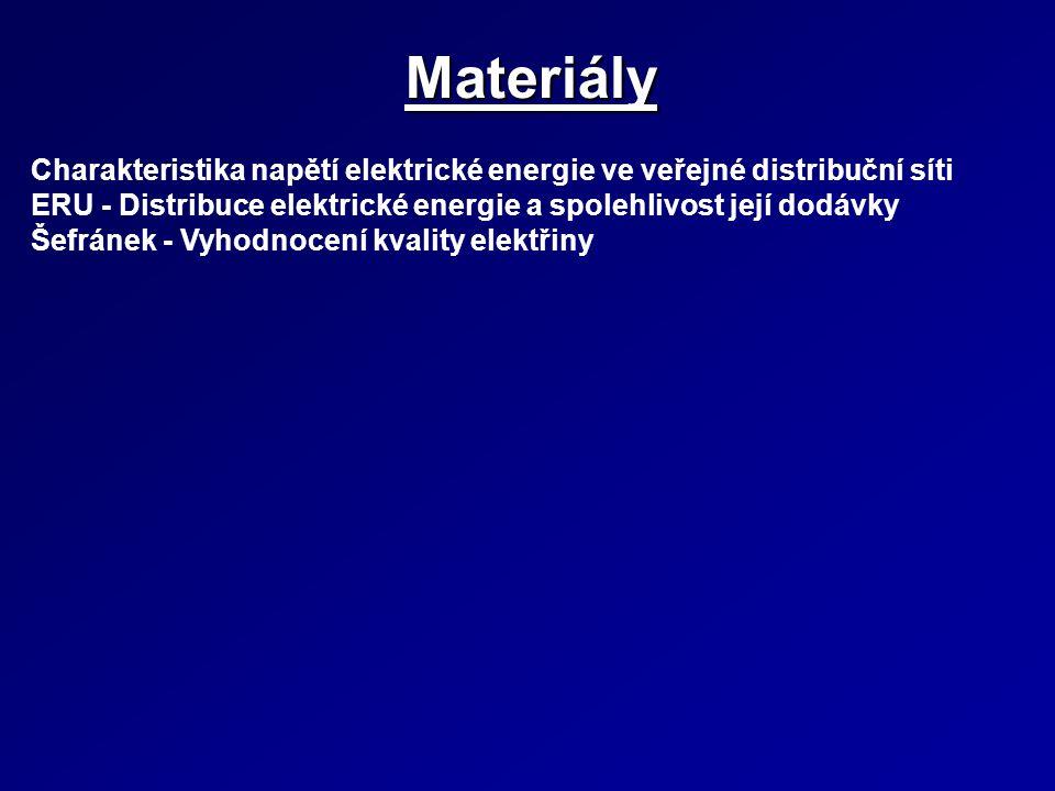 Materiály Charakteristika napětí elektrické energie ve veřejné distribuční síti ERU - Distribuce elektrické energie a spolehlivost její dodávky Šefrán