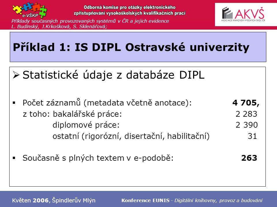 Příklady současných provozovaných systémů v ČR a jejich evidence L.