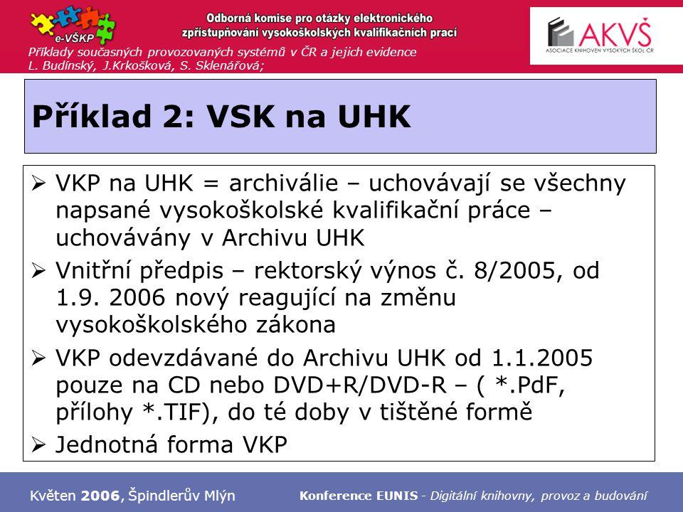 Příklady současných provozovaných systémů v ČR a jejich evidence L. Budínský, J.Krkošková, S. Sklenářová; Květen 2006, Špindlerův Mlýn Konference EUNI