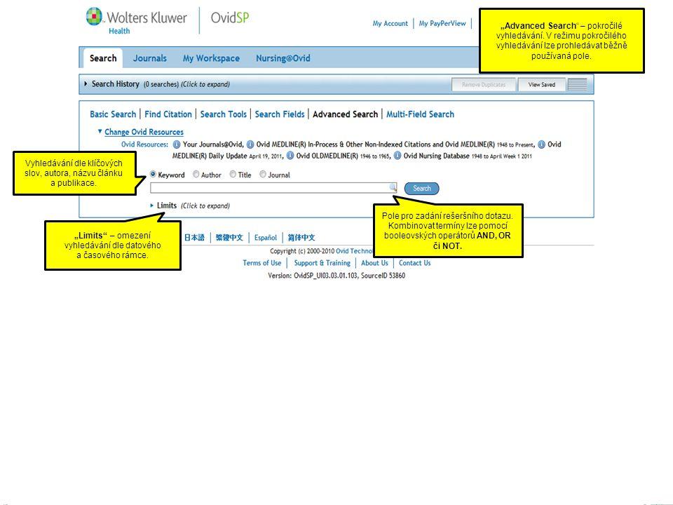 """""""Advanced Search – pokročilé vyhledávání."""