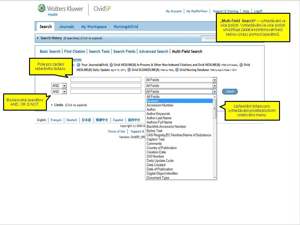 """""""Multi-Field Search – vyhledávání ve více polích."""