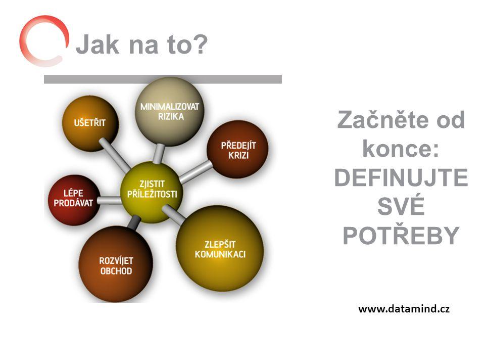 Jak na to www.datamind.cz Začněte od konce: DEFINUJTE SVÉ POTŘEBY