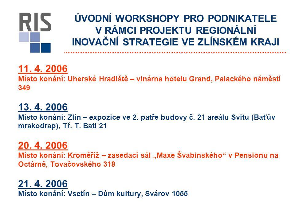 11. 4. 2006 Místo konání: Uherské Hradiště – vinárna hotelu Grand, Palackého náměstí 349 13.