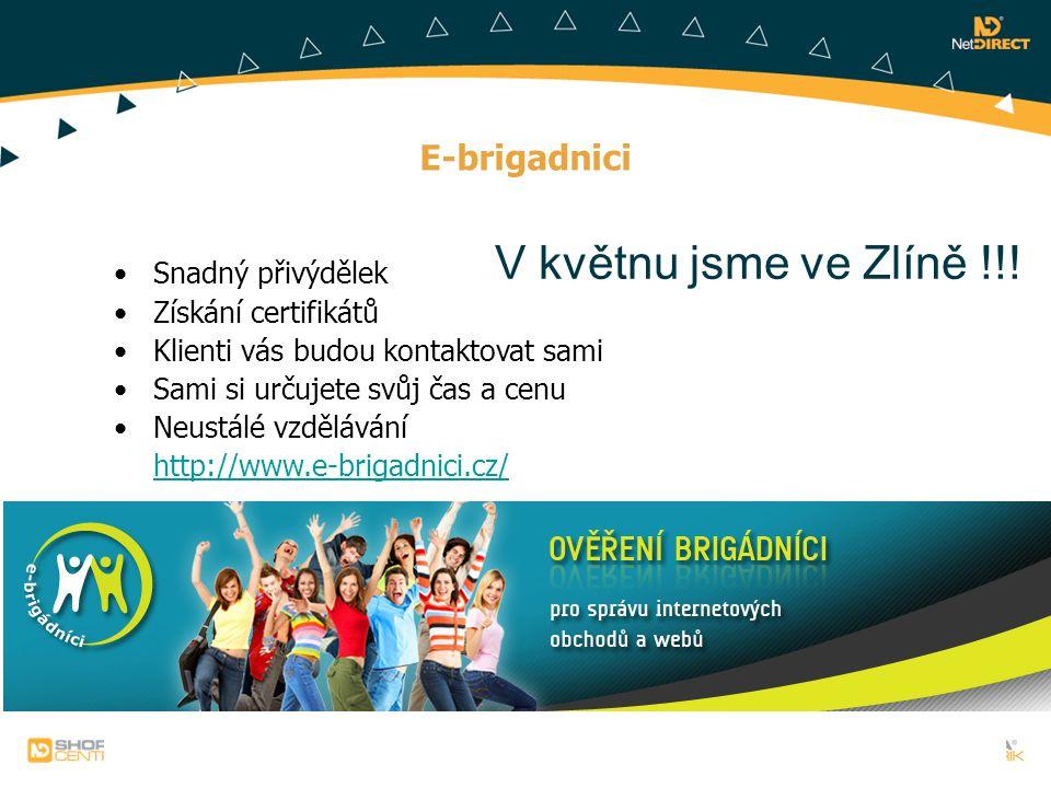 E-brigadnici Snadný přivýdělek Získání certifikátů Klienti vás budou kontaktovat sami Sami si určujete svůj čas a cenu Neustálé vzdělávání http://www.
