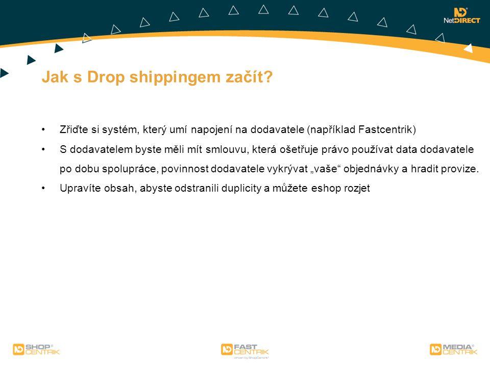 Jak s Drop shippingem začít? Zřiďte si systém, který umí napojení na dodavatele (například Fastcentrik) S dodavatelem byste měli mít smlouvu, která oš