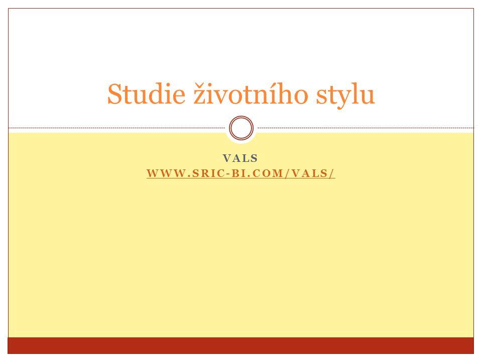 Studie životního stylu VALS WWW.SRIC-BI.COM/VALS/