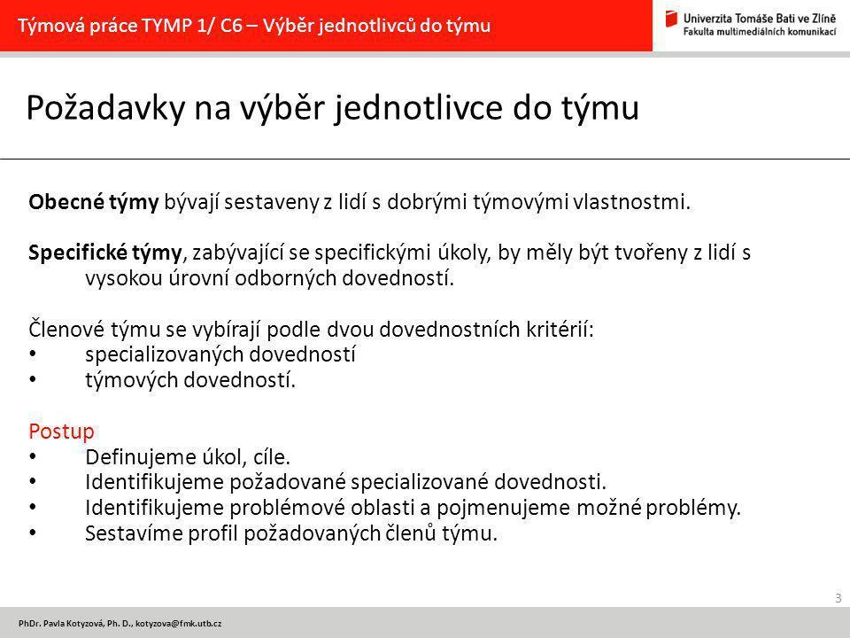 3 PhDr. Pavla Kotyzová, Ph.