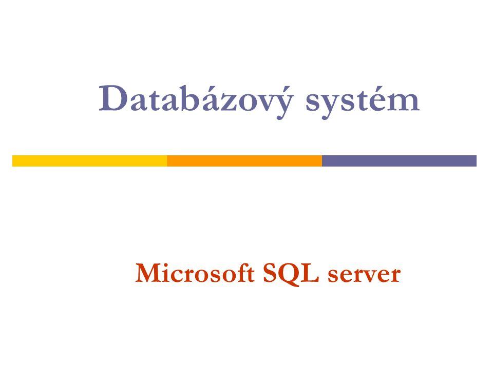 Microsoft SQL server Databázový systém