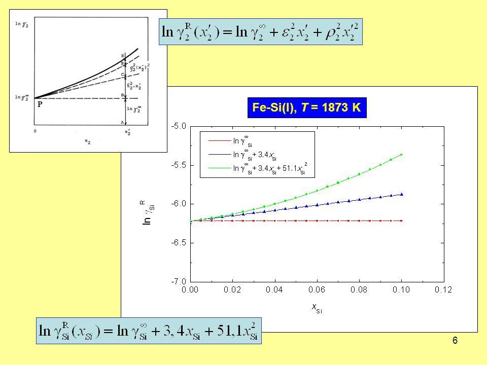 6 Fe-Si(l), T = 1873 K P