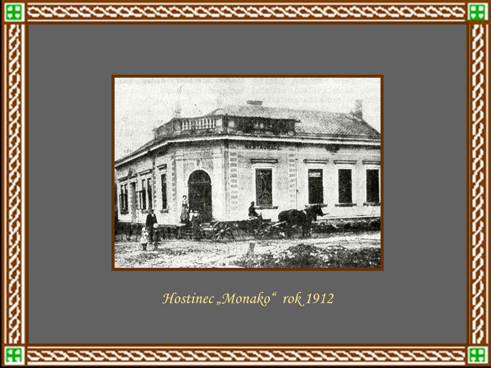 ulice Potrubná Kovářská ulice – později Bartošovar.1908 – Nad kostelní ulice Vila F. Štěpánka na Cigánově r.1905