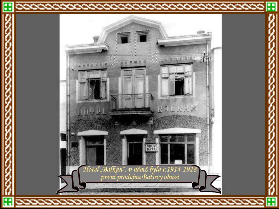 """mezi léty 1910 - 1920 Proměna jihovýchodního rohu náměstí r.1912 – ulice Hlavní, později Rašínova, pak 25.února Hostinec """"Monako"""" rok 1912"""