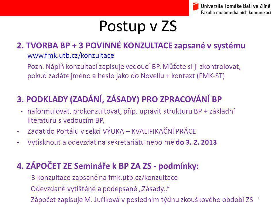 Postup v ZS 2.