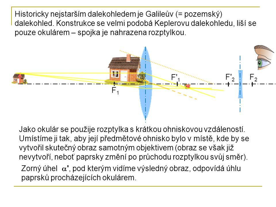 Historicky nejstarším dalekohledem je Galileův (= pozemský) dalekohled. Konstrukce se velmi podobá Keplerovu dalekohledu, liší se pouze okulárem – spo