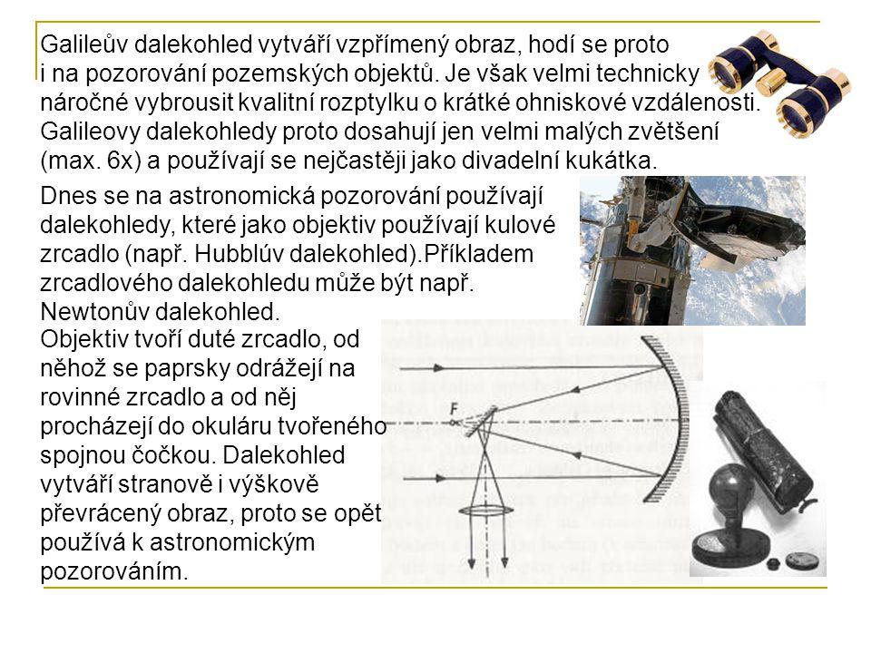 Dnes se na astronomická pozorování používají dalekohledy, které jako objektiv používají kulové zrcadlo (např. Hubblúv dalekohled).Příkladem zrcadlovéh