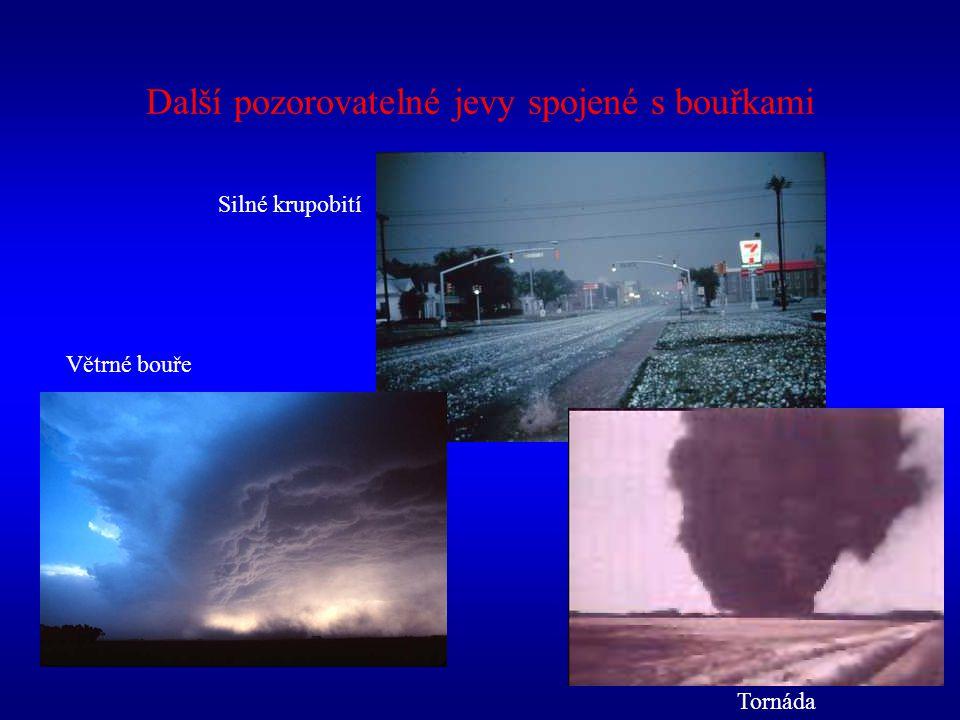 Silné krupobití Větrné bouře Tornáda